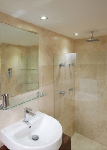 Builders in Carshalton - bathroom with sink and shower