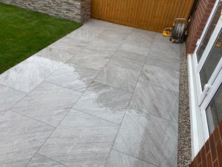 new patio just after rain