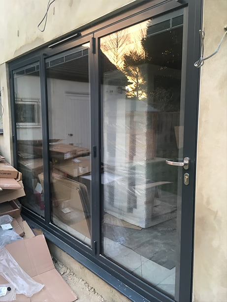 bifolding doors view from outside