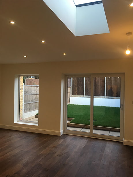 interior of an open plan extension project