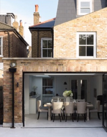 kitchen extension with bi folding doors